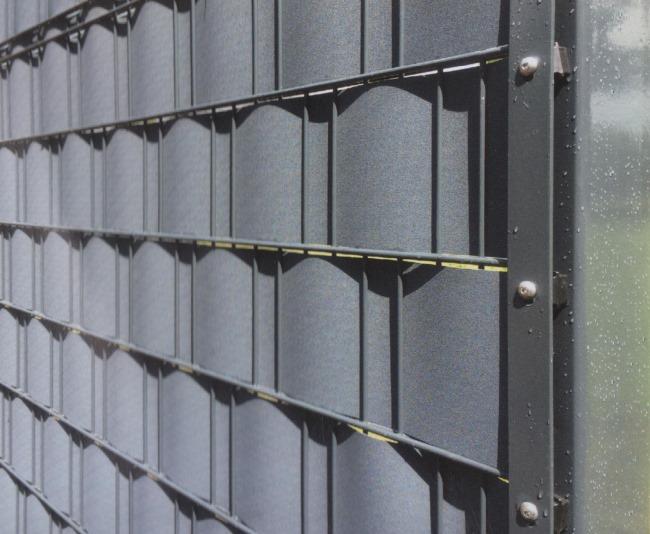 2 55 meter sichtschutz zaunstreifen gitterzaun z une zaun streifen f r haus und garten. Black Bedroom Furniture Sets. Home Design Ideas