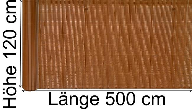 pvc sichtschutzwand sichtschutz windschutz balkonschutz 120 x 500 cm br unlich ebay. Black Bedroom Furniture Sets. Home Design Ideas